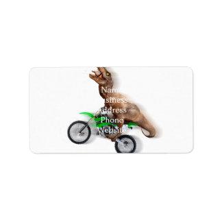 Etiqueta Motocicleta do rex de T - passeio do rex de t -