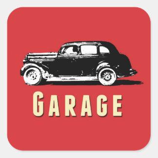 Etiqueta movente da etiqueta da caixa da garagem adesivo quadrado