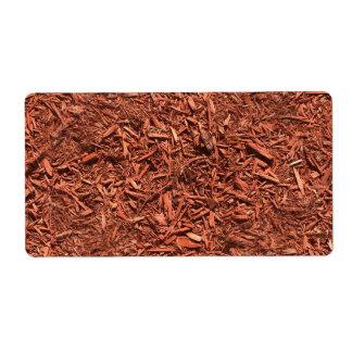 Etiqueta mulch detalhado do cedro vermelho para o
