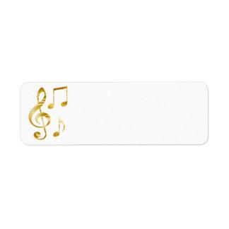 Etiqueta música dourada elegante do clef