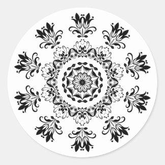Etiqueta Mystical preto e branco do abstrato da