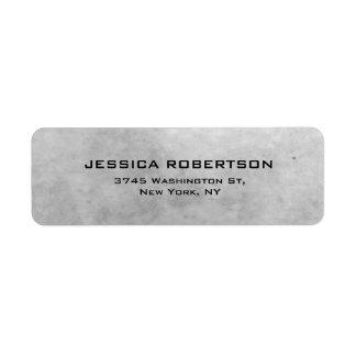 Etiqueta Na moda moderno elegante liso cinzento