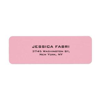 Etiqueta Na moda moderno elegante liso rosa pálido
