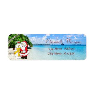 Etiqueta Na moda, Natal, praia, Papai Noel e boneco de neve
