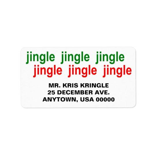 Etiqueta Natal do vermelho do verde do tinir do tinir do