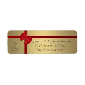 Etiqueta Natal na moda dourado elegante do feriado
