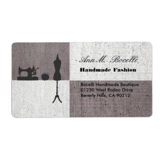 Etiqueta Negócio Sewing Handmade do artesanato da roupa de