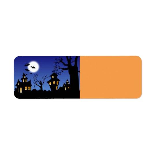 Etiqueta Noite do Dia das Bruxas