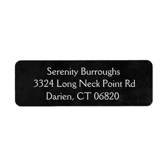 Etiqueta Nome preto e branco do endereço do quadro rústico
