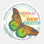 Etiqueta nova da borboleta da criação adesivo