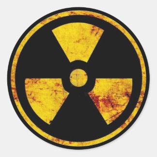 Etiqueta nuclear suja do sinal de aviso