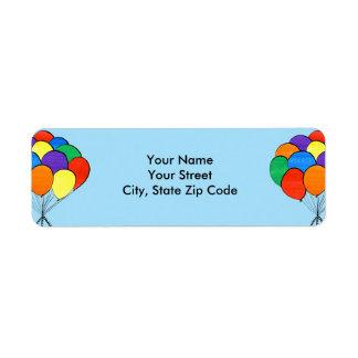 Etiqueta O arco-íris do divertimento colorido Balloons