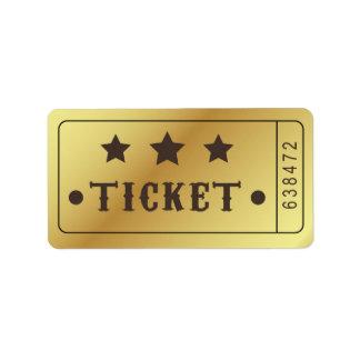 Etiqueta O bilhete admite que um Stars o aniversário do