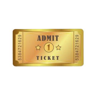 Etiqueta O bilhete admite um aniversário da festa de