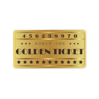 Etiqueta O bilhete dourado admite que um Stars a festa de