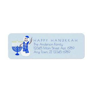 Etiqueta O boneco de neve Chrismukkah de Hanukkah adiciona