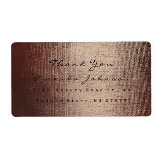 Etiqueta O chocolate dourado da composição cora obrigado do