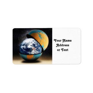 Etiqueta O cobrir protetor da terra