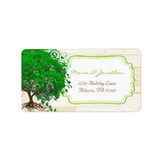 Etiqueta O coração lunático bonito do verde esmeralda