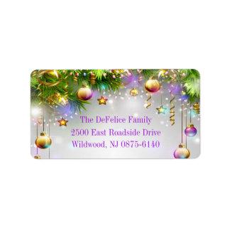 Etiqueta O feriado do Natal Ornaments multi cores