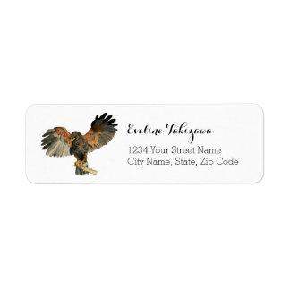 Etiqueta O Flapping do falcão voa a pintura da aguarela
