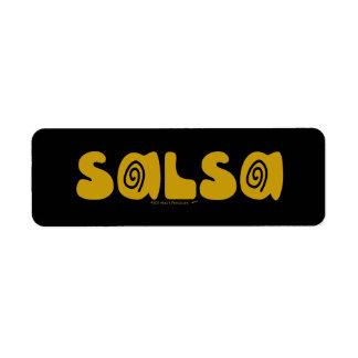 Etiqueta O ouro da dança da salsa roda customizável
