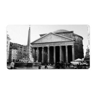 Etiqueta O panteão em Roma, Italia
