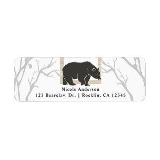 Etiqueta O urso rústico & a festa de casamento vermelha das