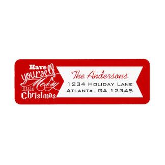 Etiqueta O vermelho tem você mesmo um alegre pouco Natal