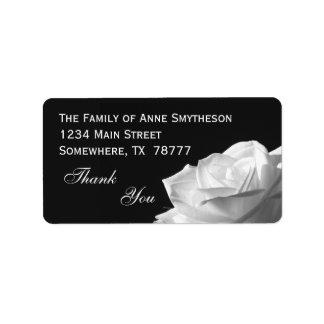 Etiqueta Obrigado do rosa branco você