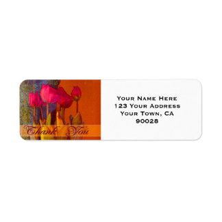 Etiqueta Obrigado tulipas bonitas