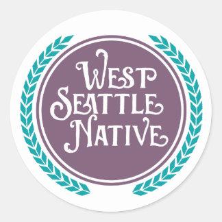 Etiqueta ocidental do nativo de Seattle
