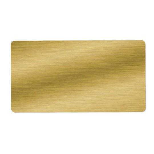 Etiqueta Olhar escovado elegante do ouro
