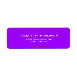 Etiqueta Original contemporâneo elegante liso violeta