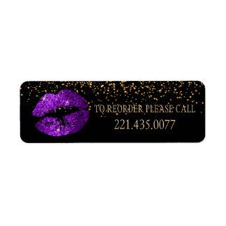 Etiqueta Os confetes dourados & os lábios roxos 2 -