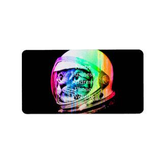 Etiqueta os gatos coloridos - astronauta do gato - espaçam