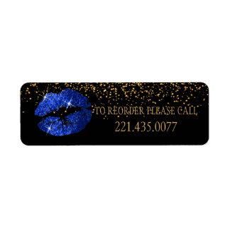 Etiqueta Os lábios azuis do brilho - requisite novamente