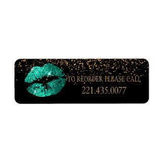 Etiqueta Os lábios verdes do brilho - requisite novamente
