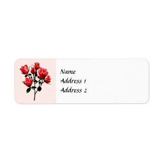 Etiqueta Os rosas cor-de-rosa escuros do bebê salvar a data