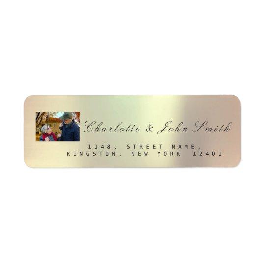 Etiqueta Ouro cor-de-rosa RSVP VIP metálico de cobre do