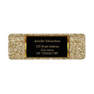 Etiqueta Ouro do brilho que bling o endereço do remetente