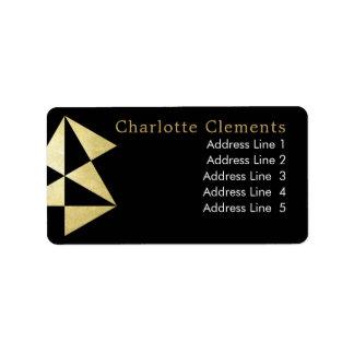 Etiqueta Ouro preto profissional geométrico moderno