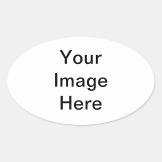 Etiqueta oval adesivos em formato oval