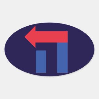 Etiqueta oval do hebraico de Hillary do vermelho