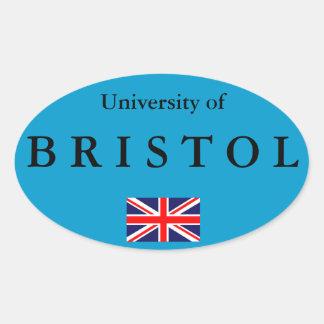 Etiqueta oval européia da universidade de Bristol