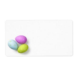 Etiqueta Ovos da páscoa no branco