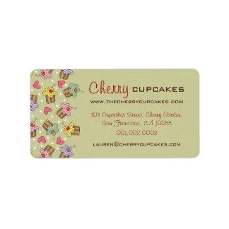 Etiqueta Padaria dos confeitos dos cupcakes da cereja doce
