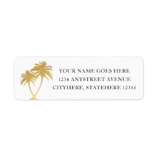 Etiqueta Palmeira do ouro para o casamento do destino da
