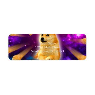 Etiqueta pão - doge - shibe - espaço - uau doge