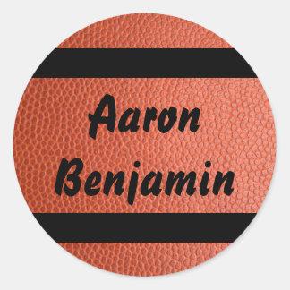 Etiqueta para a coleção do basquetebol das aros
